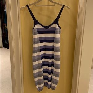 Parker stripe bodycon dress, size Small
